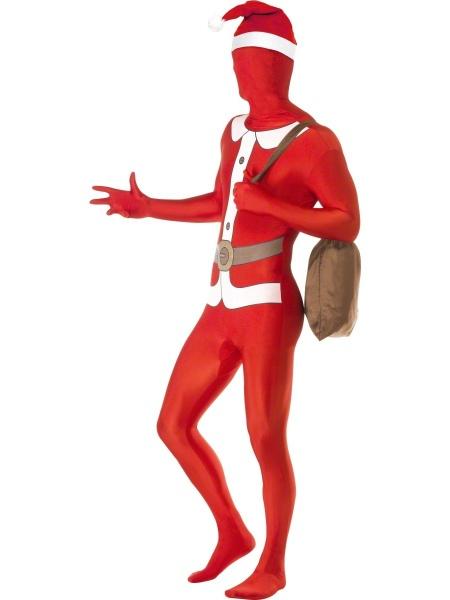 Morphsuit santa claus red printed with santa sack