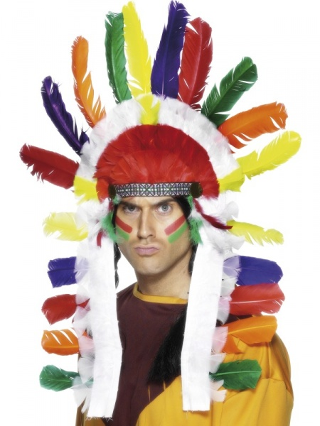 Long Indian Chief Headdress  sc 1 st  Carnival Store Prague : indian chief costume men  - Germanpascual.Com