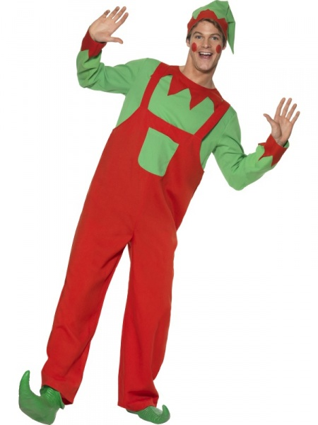 Christmas elf costume with hat top and jumpsuit christmas costume